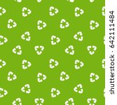 recycle pattern. seamless... | Shutterstock .eps vector #642111484