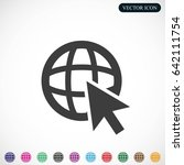 go to web .globe and  cursor... | Shutterstock .eps vector #642111754