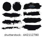 large grunge elements set.... | Shutterstock .eps vector #642112780