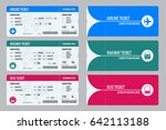 set tickets for plane  bus and... | Shutterstock .eps vector #642113188