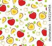 seamless pattern with whole and ... | Shutterstock .eps vector #642114454