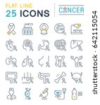 set vector line icons  sign and ... | Shutterstock .eps vector #642115054