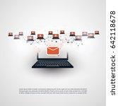 network vulnerability   virus ... | Shutterstock .eps vector #642118678
