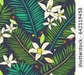 floral seamless pattern.... | Shutterstock . vector #642119458