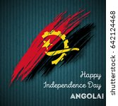 angola independence day... | Shutterstock .eps vector #642124468