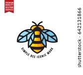 honey bee linear vector... | Shutterstock .eps vector #642131866