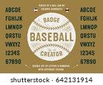 baseball badge creator. ball... | Shutterstock .eps vector #642131914