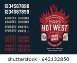 vintage textured spurred... | Shutterstock .eps vector #642132850
