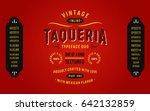 vintage textured typeface duo... | Shutterstock .eps vector #642132859