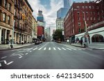 new york city street road in...