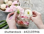 florist at work  how to make... | Shutterstock . vector #642135946