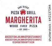 vintage textured typeface ... | Shutterstock .eps vector #642137344
