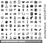 100 department icons set in... | Shutterstock . vector #642139714