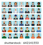 avatars characters set of... | Shutterstock .eps vector #642141553