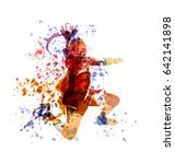 vector watercolor illustration... | Shutterstock .eps vector #642141898