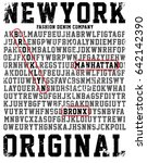 college new york typography  t... | Shutterstock .eps vector #642142390