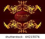 vector golden frame | Shutterstock .eps vector #64215076