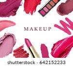 set of decorative cosmetics on... | Shutterstock . vector #642152233