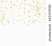 golden tiny confetti and... | Shutterstock .eps vector #642154930