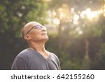 happiness asian senior man... | Shutterstock . vector #642155260