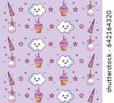 kawaii pattern design   Shutterstock .eps vector #642164320