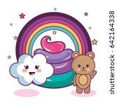 Stock vector cute animals design 642164338