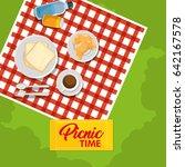 picnic time design | Shutterstock .eps vector #642167578