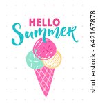hello summer caption with 3... | Shutterstock .eps vector #642167878