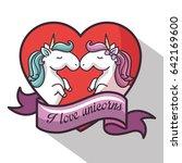 cute unicorn design   Shutterstock .eps vector #642169600