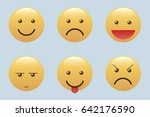 set of emoticons  icon pack ... | Shutterstock .eps vector #642176590
