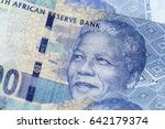 Small photo of Obverse of South African ZAR banknote with a denomination of 100 rand, and an image of Nelson Mandela.