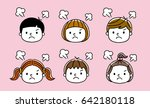 children's expression  get angry | Shutterstock .eps vector #642180118