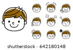 boy's expression  set  variation | Shutterstock .eps vector #642180148