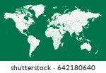 world map vector. | Shutterstock .eps vector #642180640