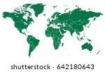 world map vector. | Shutterstock .eps vector #642180643