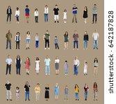 diversity people set gesture... | Shutterstock . vector #642187828