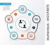 business management icons set.... | Shutterstock .eps vector #642193870