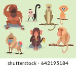 different breads monkey... | Shutterstock .eps vector #642195184