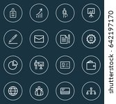 business outline icons set.... | Shutterstock .eps vector #642197170