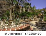 from one of the courtyards at... | Shutterstock . vector #642200410