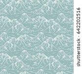 mountains sketch seamless... | Shutterstock .eps vector #642202516