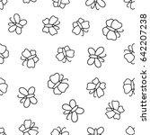 seamless pattern with... | Shutterstock .eps vector #642207238