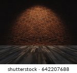 interior space  bricks wall... | Shutterstock . vector #642207688
