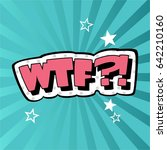 wording sound effect for comic... | Shutterstock .eps vector #642210160