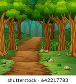 vector illustration of forest...   Shutterstock .eps vector #642217783