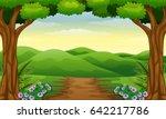 Vector Illustration Of Hills...
