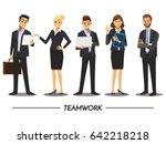 Business People teamwork ,Vector illustration cartoon character. | Shutterstock vector #642218218