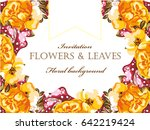 vintage delicate invitation... | Shutterstock . vector #642219424