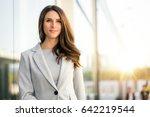 beautiful business woman...   Shutterstock . vector #642219544
