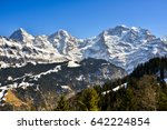 Snow Capped Mountain Peaks Of...